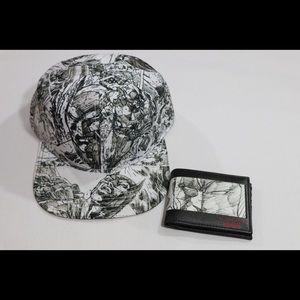DC Comics Batman Jim Lee Pencil Art Hat/Wallet
